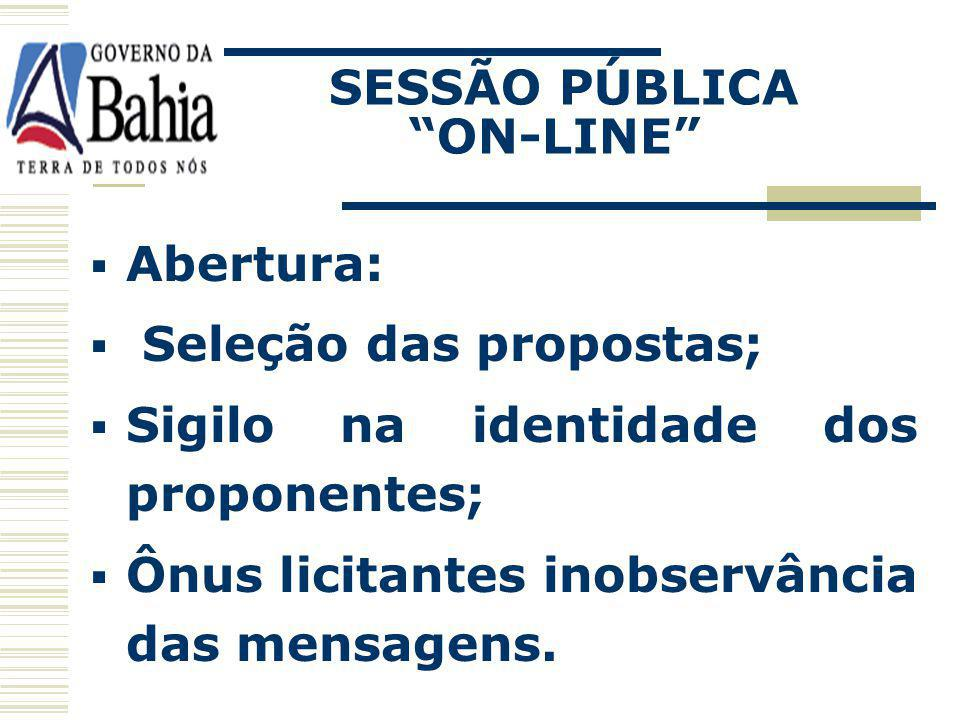 SESSÃO PÚBLICA ON-LINE