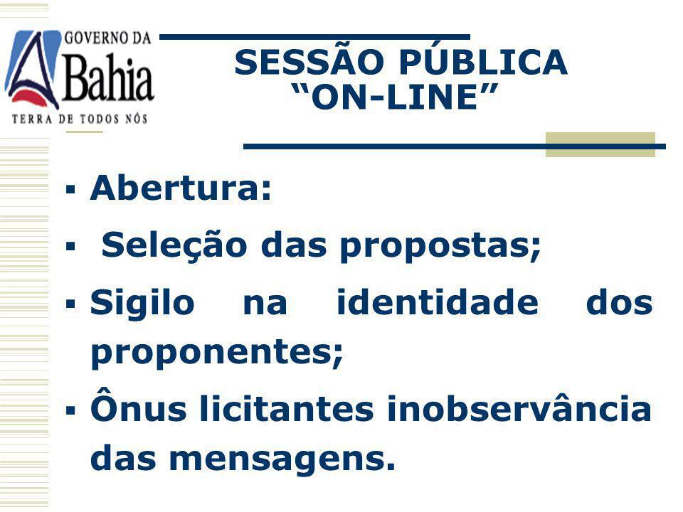 SESSÃO PÚBLICA ON-LINE