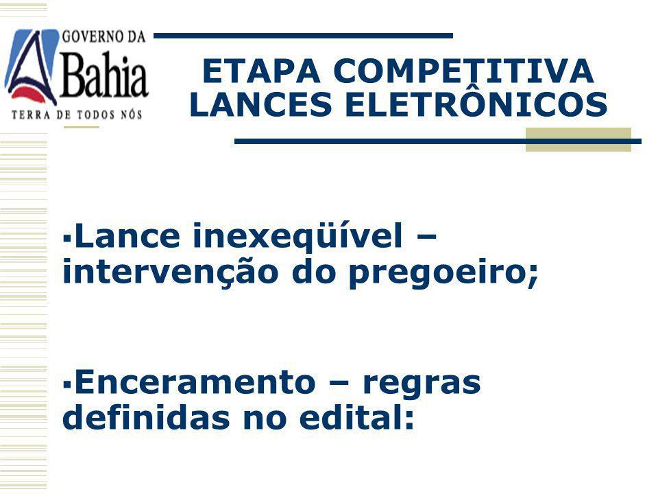 ETAPA COMPETITIVA LANCES ELETRÔNICOS