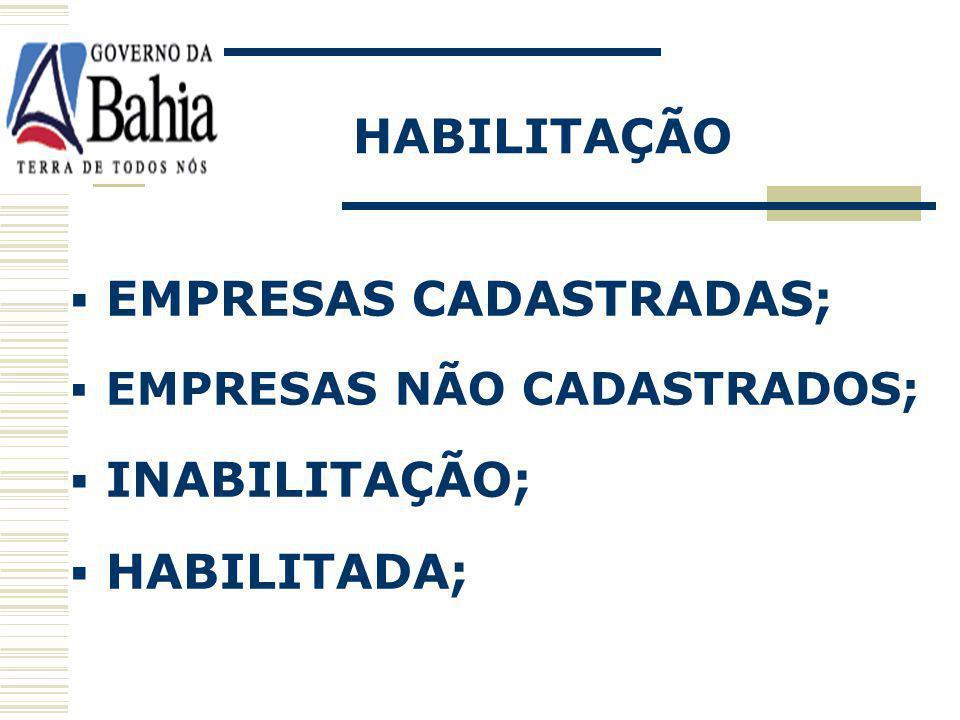 EMPRESAS CADASTRADAS;