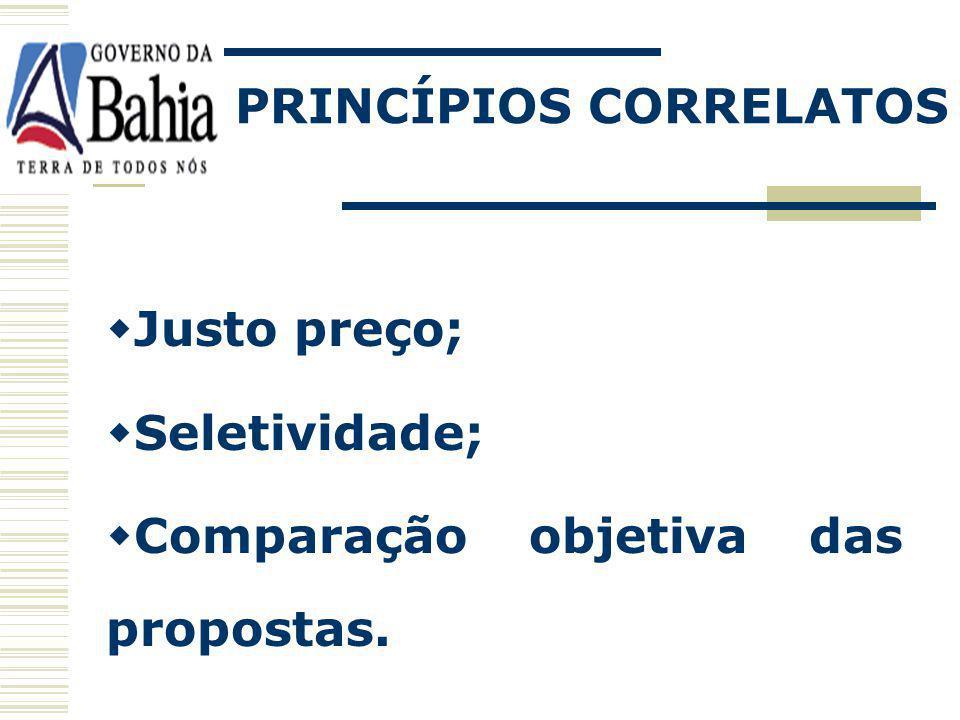 PRINCÍPIOS CORRELATOS
