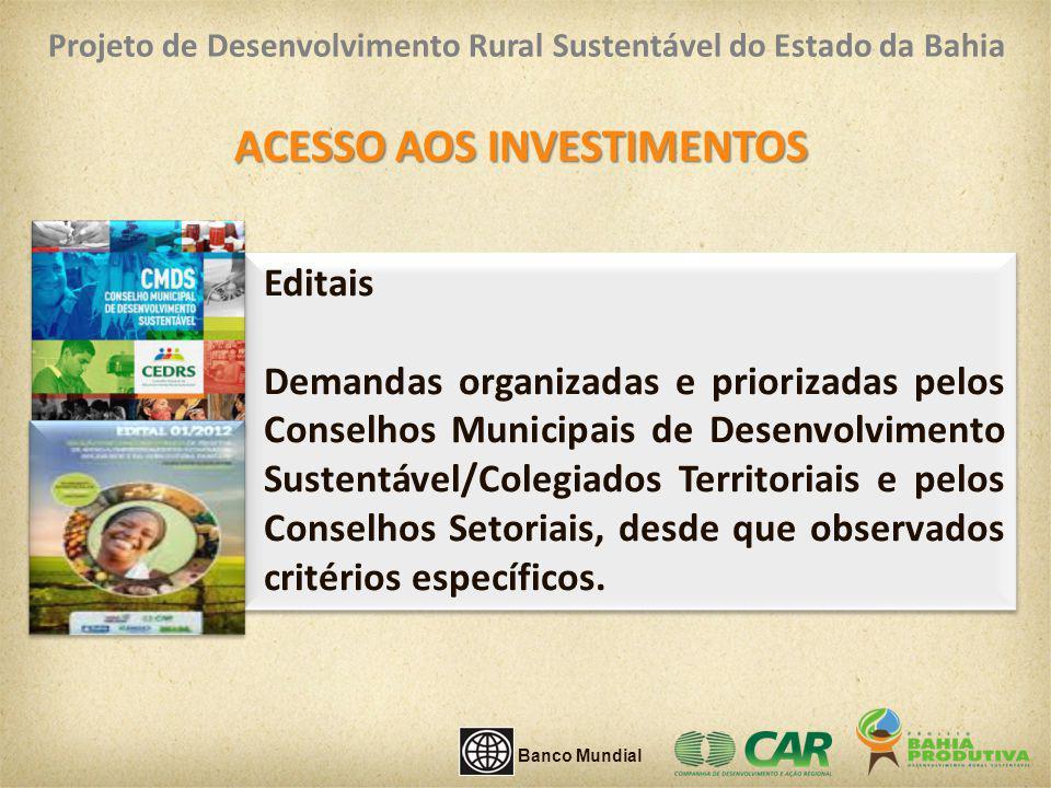 ACESSO AOS INVESTIMENTOS