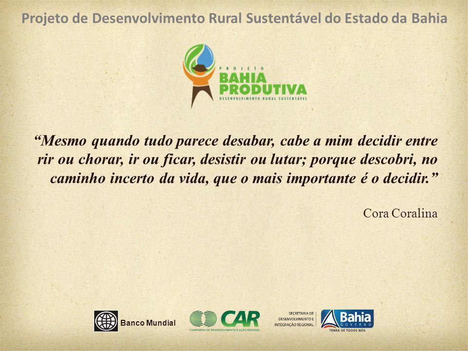 Projeto de Desenvolvimento Rural Sustentável do Estado da Bahia
