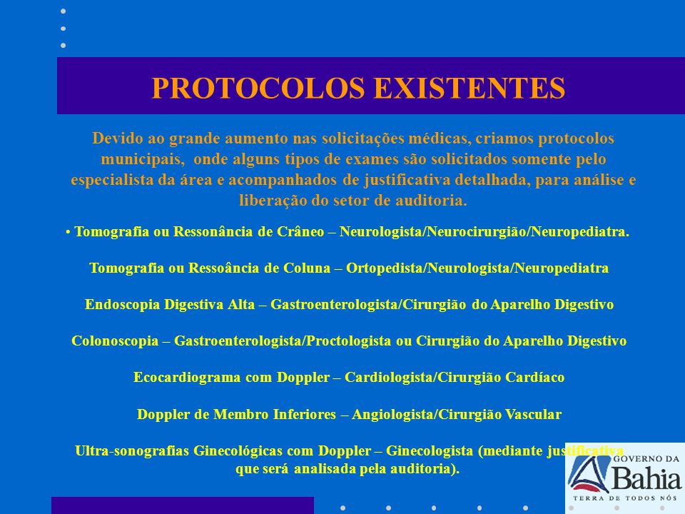 PROTOCOLOS EXISTENTES
