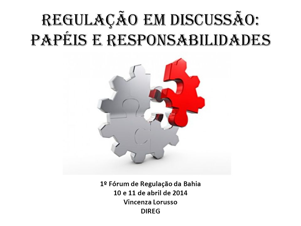 Regulação em discussão: papÉis e responsabilidades