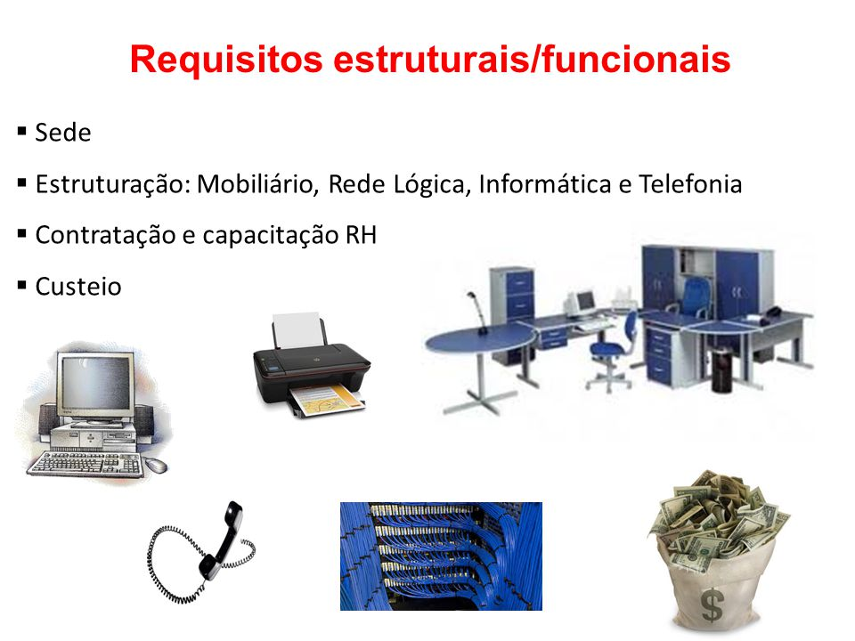 Requisitos estruturais/funcionais