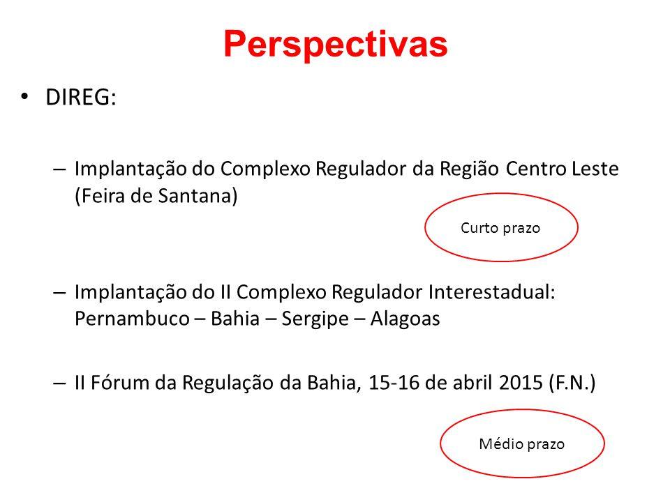 Perspectivas DIREG: Implantação do Complexo Regulador da Região Centro Leste (Feira de Santana)