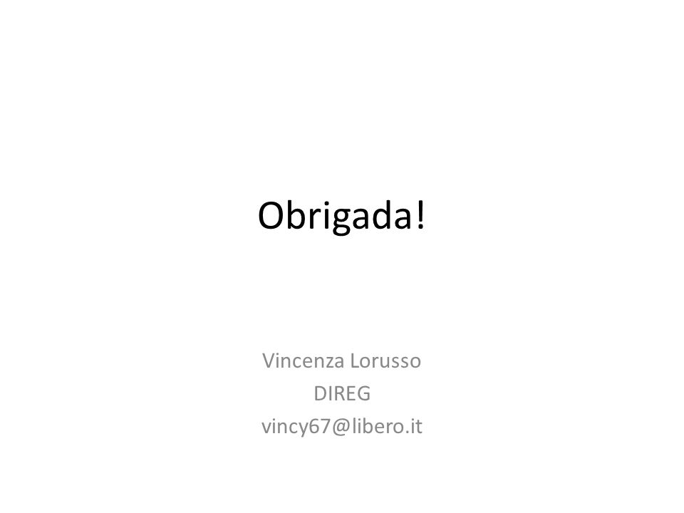 Vincenza Lorusso DIREG vincy67@libero.it