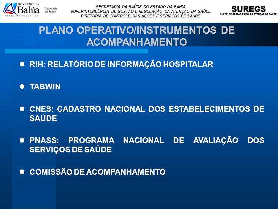 PLANO OPERATIVO/INSTRUMENTOS DE ACOMPANHAMENTO