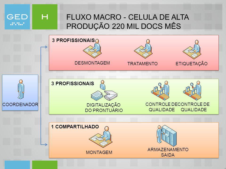 FLUXO MACRO - CELULA DE ALTA PRODUÇÃO 220 MIL DOCS MÊS
