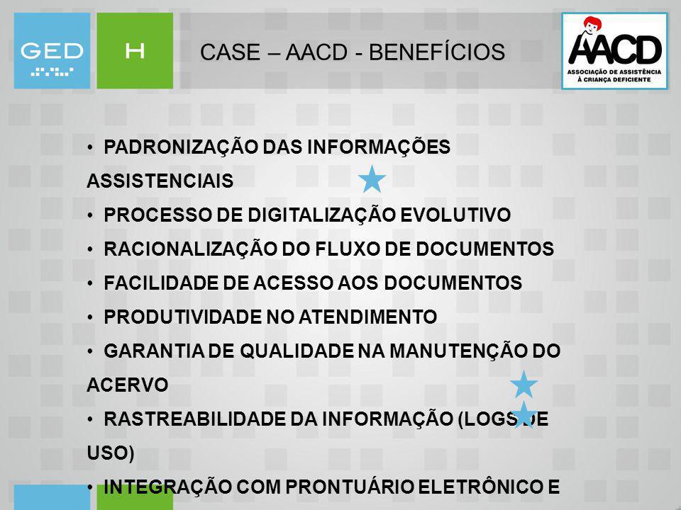 CASE – AACD - BENEFÍCIOS
