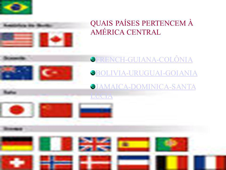 QUAIS PAÍSES PERTENCEM À AMÉRICA CENTRAL