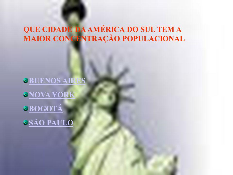 QUE CIDADE DA AMÉRICA DO SUL TEM A MAIOR CONCENTRAÇÃO POPULACIONAL