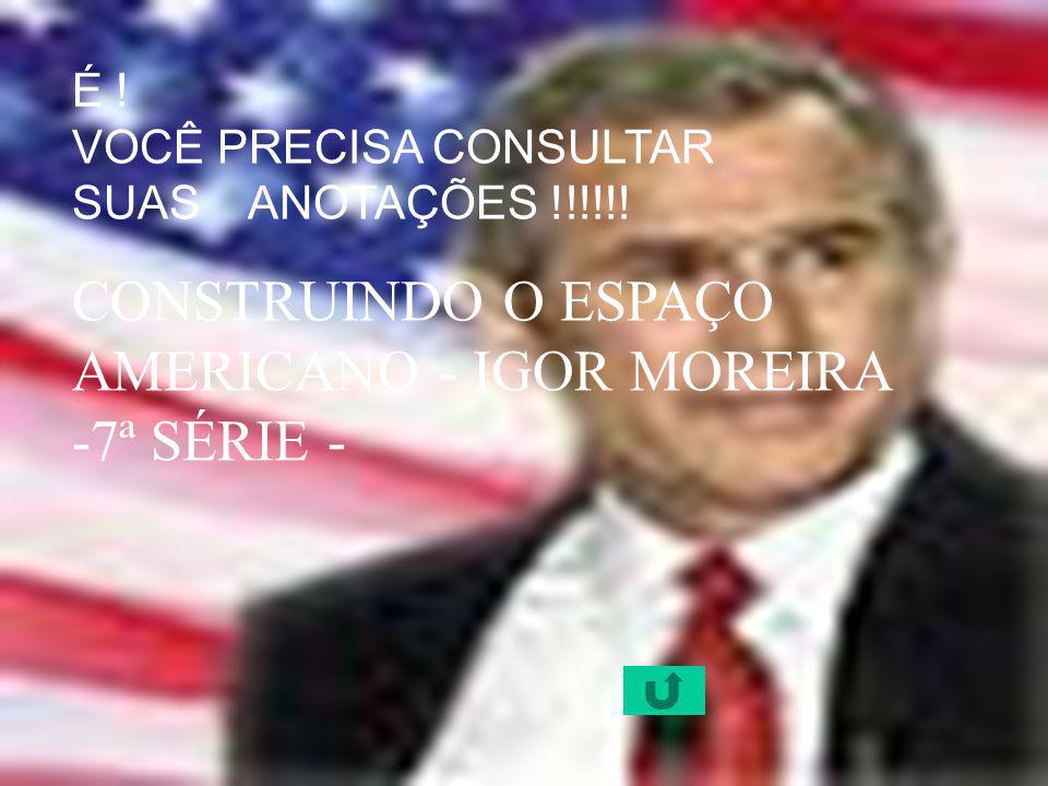 CONSTRUINDO O ESPAÇO AMERICANO - IGOR MOREIRA -7ª SÉRIE -