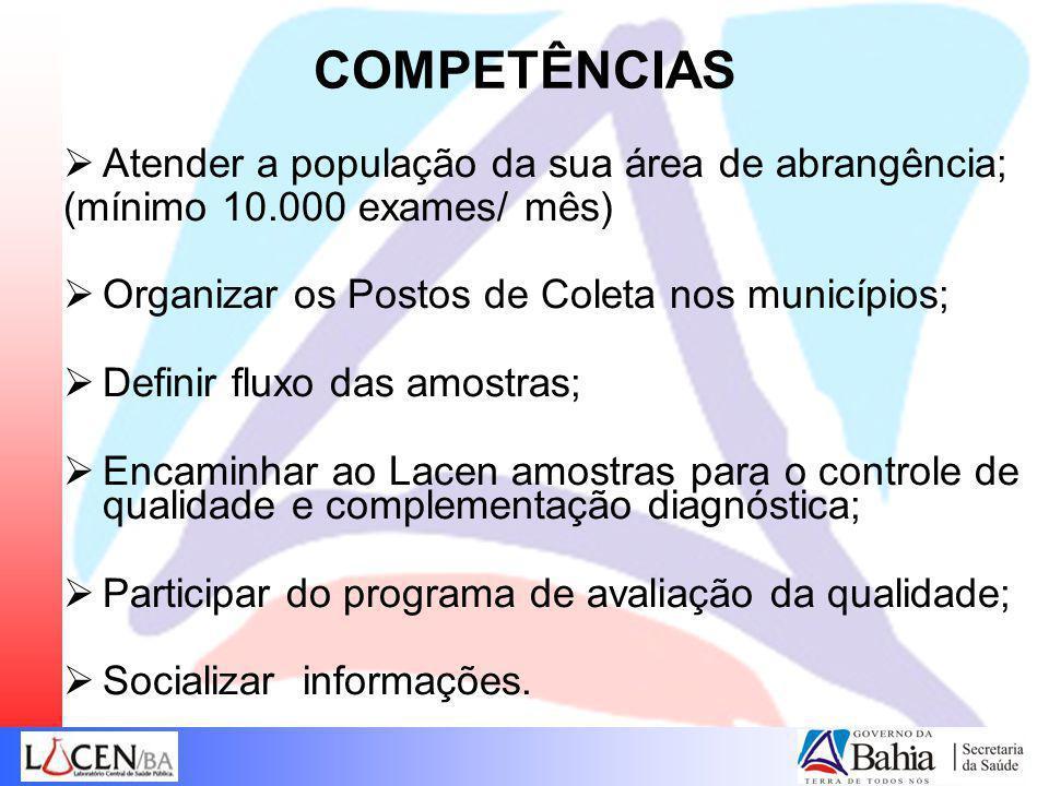 COMPETÊNCIAS Atender a população da sua área de abrangência;