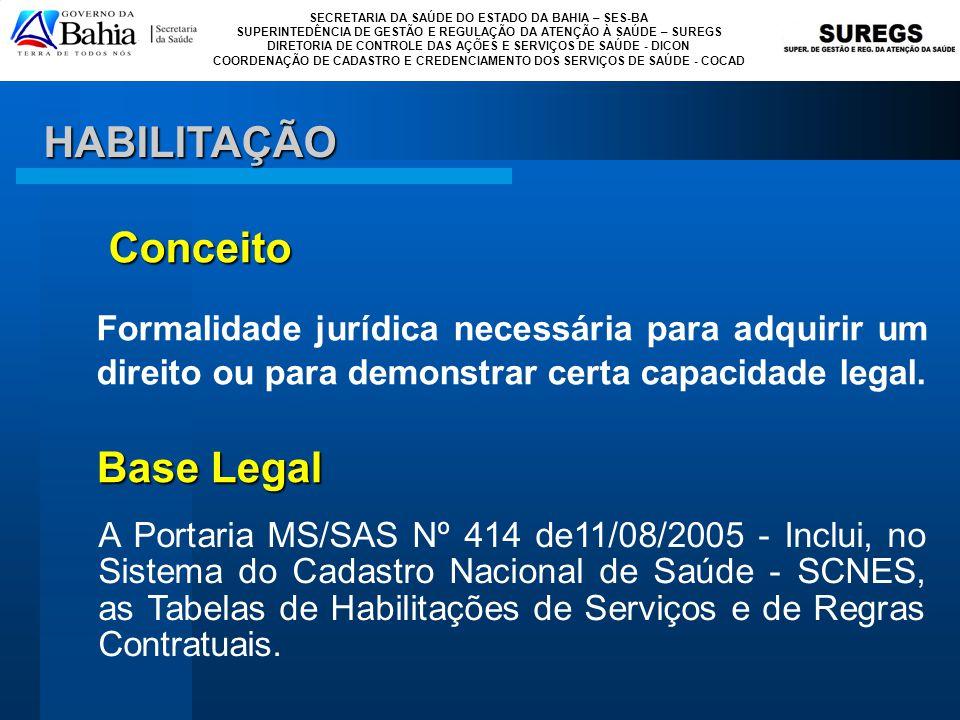 HABILITAÇÃO Conceito. Formalidade jurídica necessária para adquirir um direito ou para demonstrar certa capacidade legal.