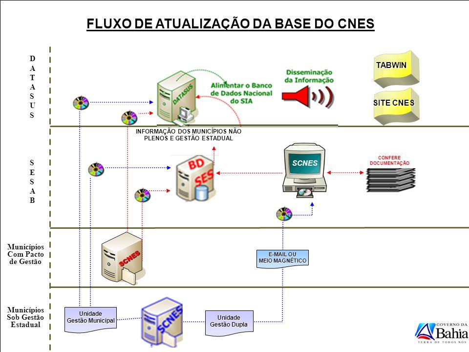 FLUXO DE ATUALIZAÇÃO DA BASE DO CNES