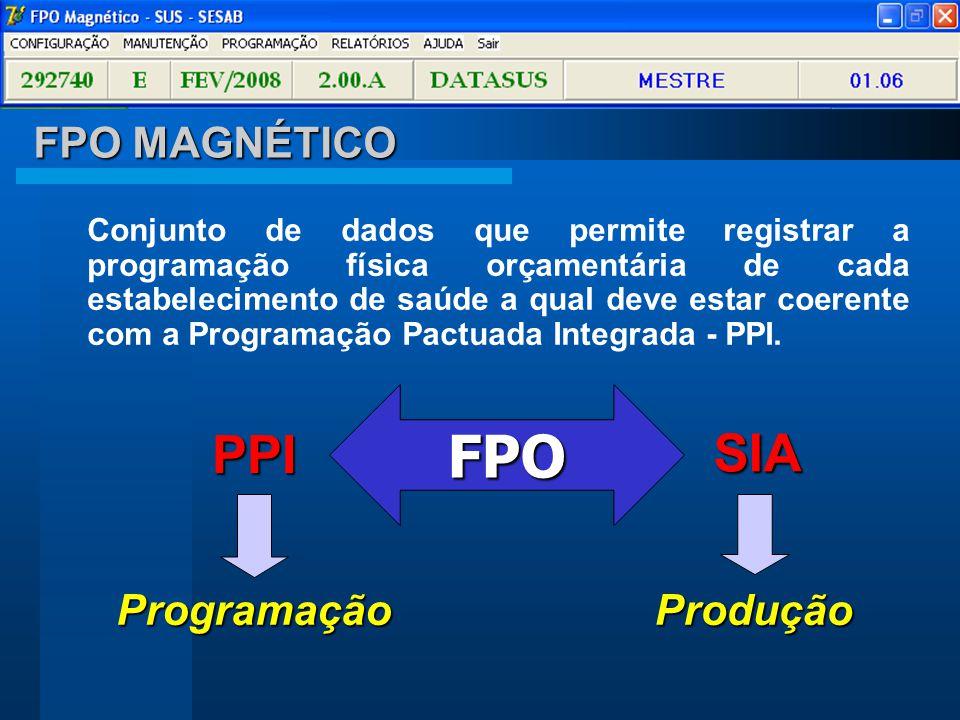 FPO PPI SIA FPO MAGNÉTICO Programação Produção