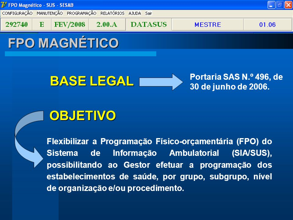 FPO MAGNÉTICO BASE LEGAL OBJETIVO