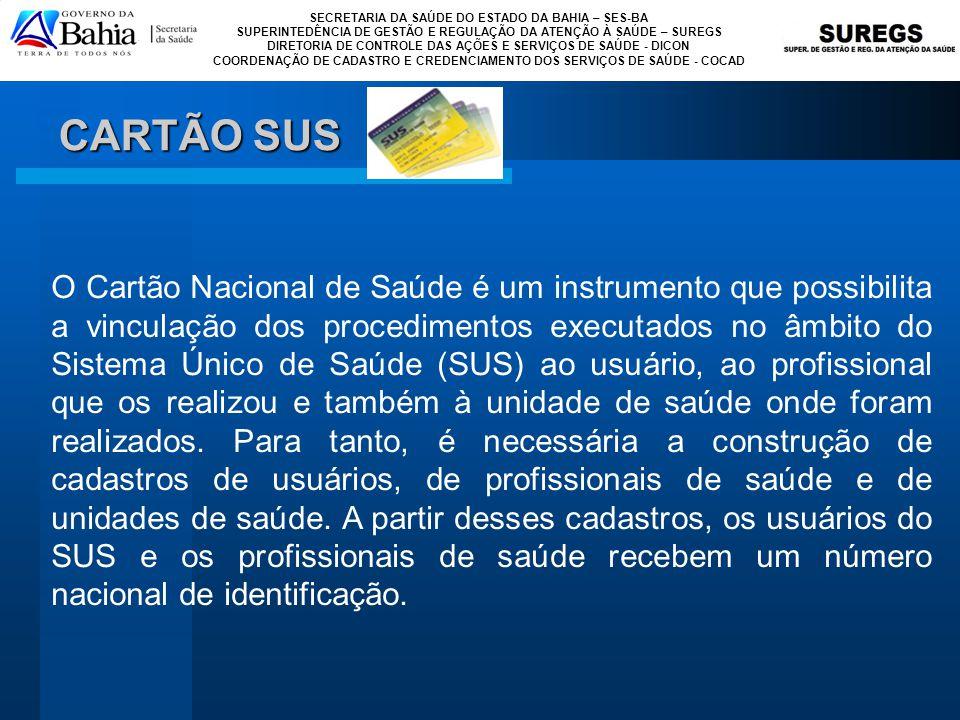 CARTÃO SUS