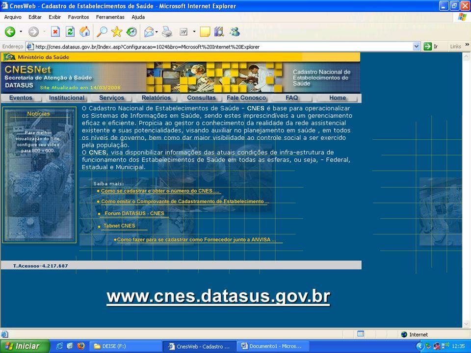 www.cnes.datasus.gov.br