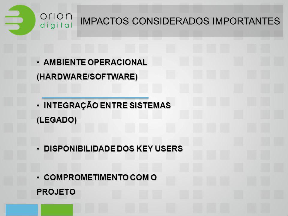 IMPACTOS CONSIDERADOS IMPORTANTES