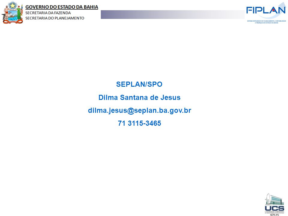 RECEITA TOTAL SEPLAN/SPO Dilma Santana de Jesus