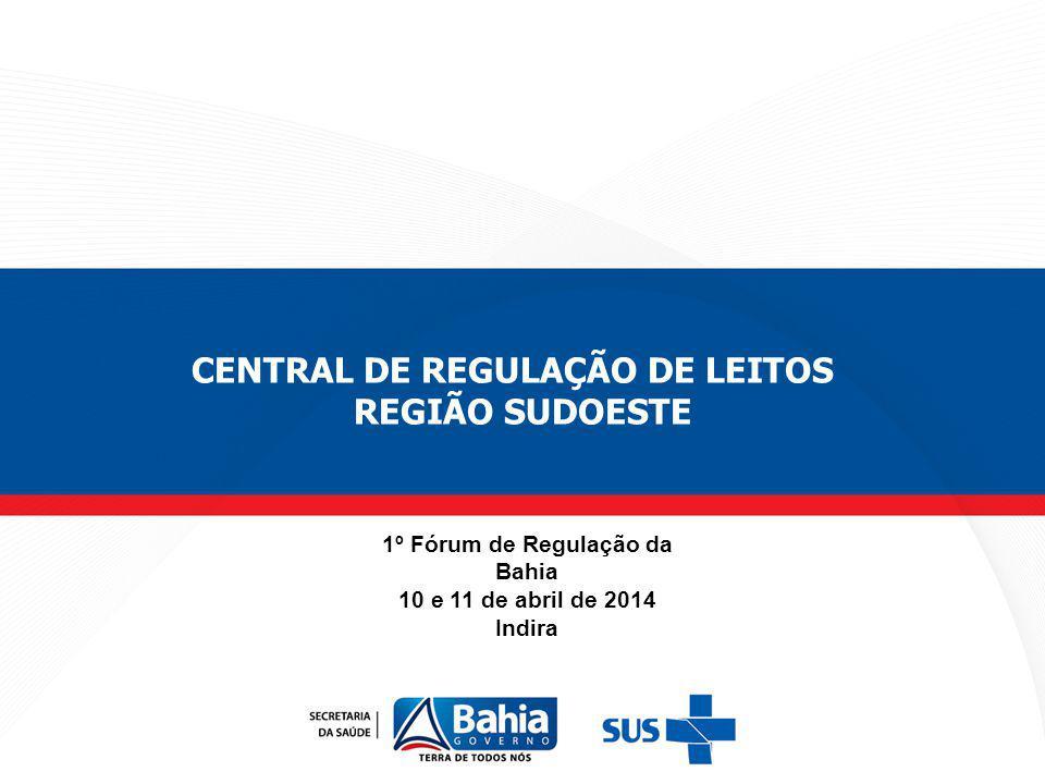 CENTRAL DE REGULAÇÃO DE LEITOS 1º Fórum de Regulação da Bahia