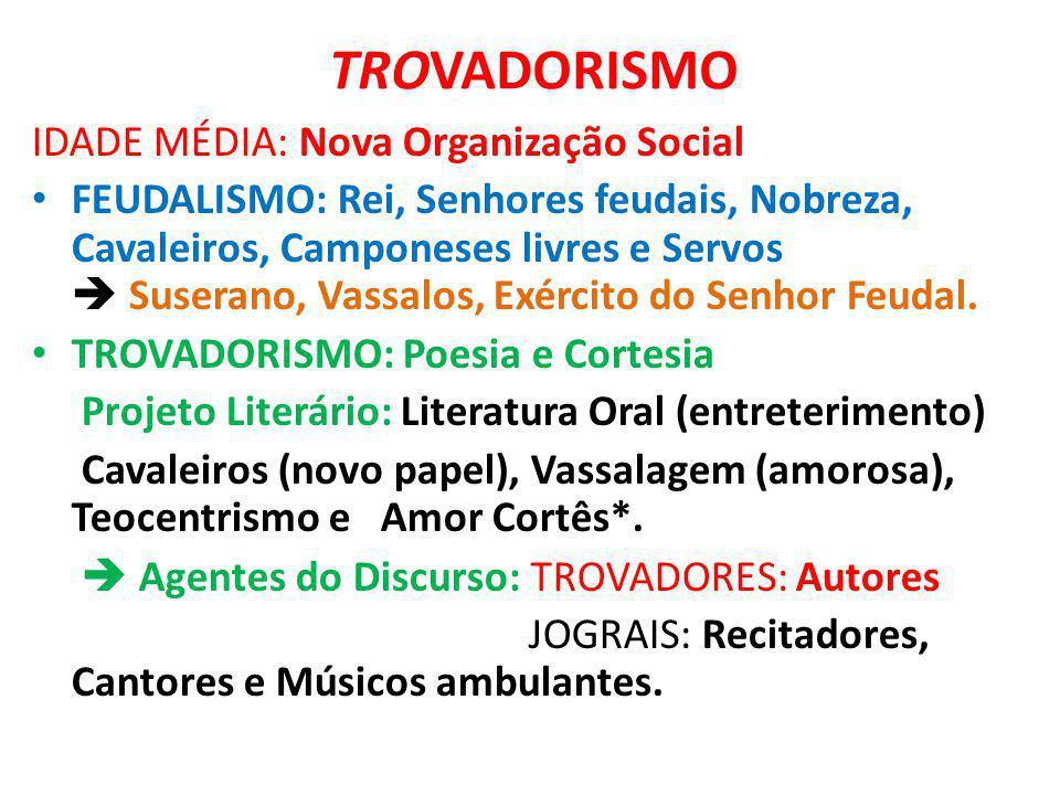 TROVADORISMO IDADE MÉDIA: Nova Organização Social