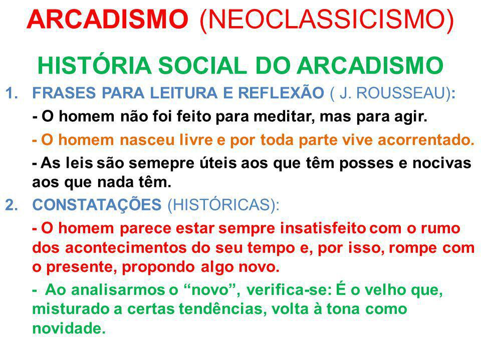 ARCADISMO (NEOCLASSICISMO)