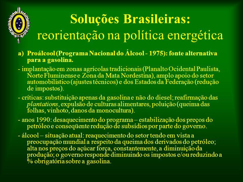 Soluções Brasileiras: reorientação na política energética