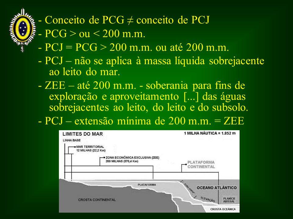 - Conceito de PCG ≠ conceito de PCJ