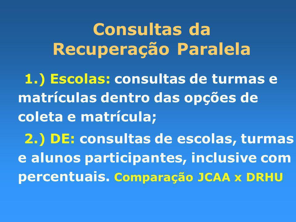 Consultas da Recuperação Paralela