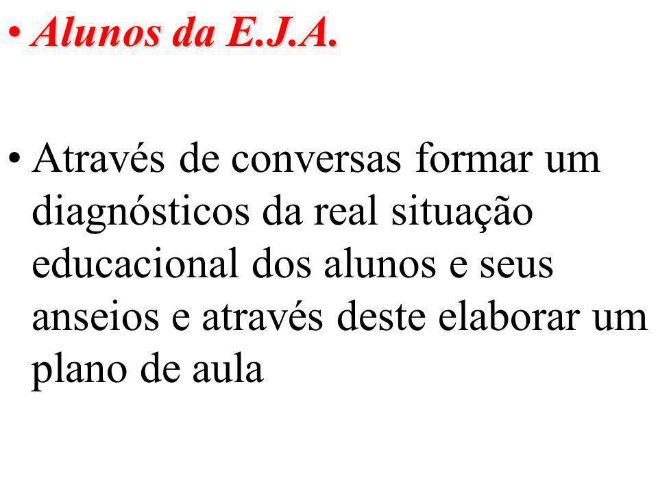 Alunos da E.J.A.