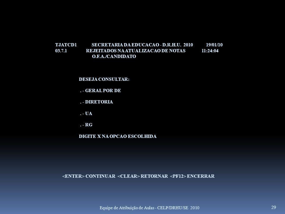TJATCD1 SECRETARIA DA EDUCACAO - D.R.H.U. 2010 19/01/10