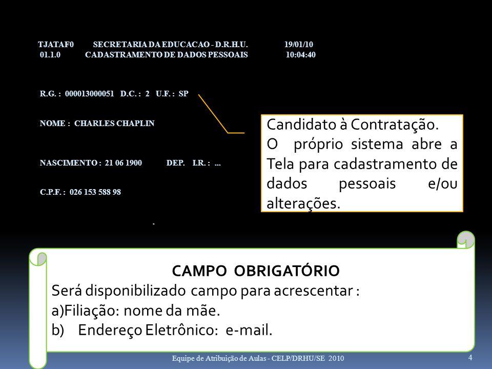 Candidato à Contratação.