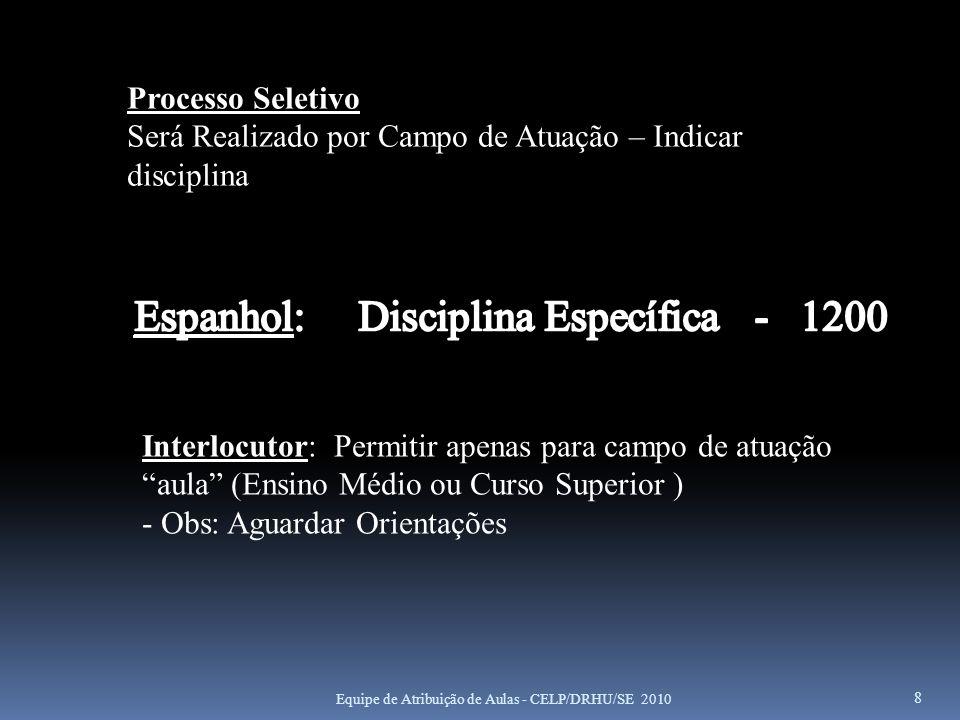 Espanhol: Disciplina Específica - 1200