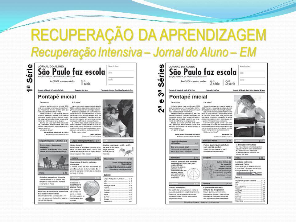RECUPERAÇÃO DA APRENDIZAGEM Recuperação Intensiva – Jornal do Aluno – EM