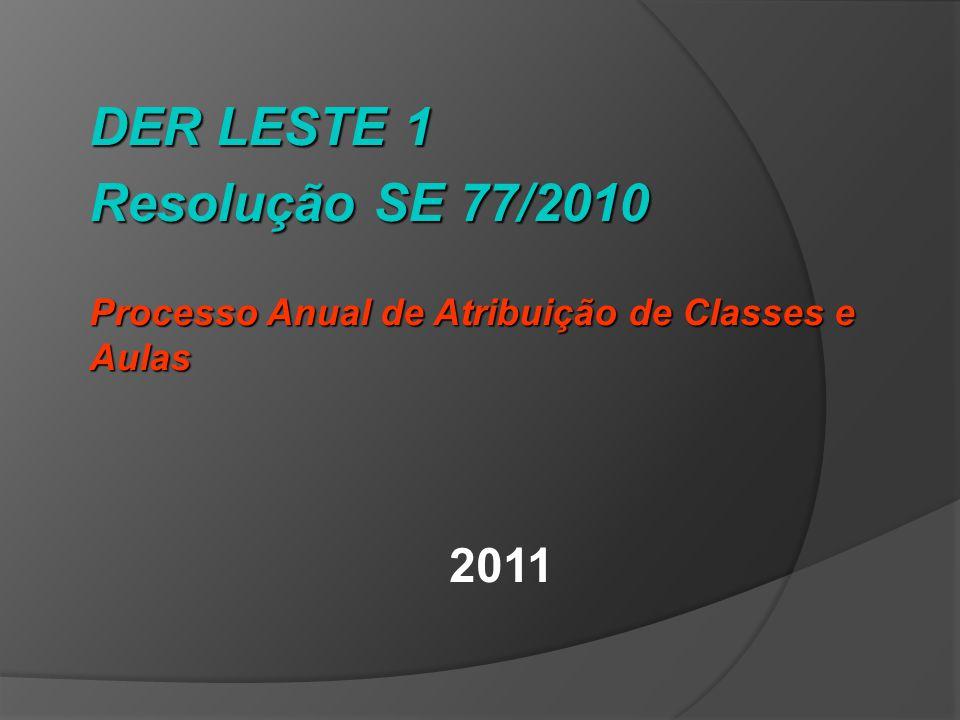 DER LESTE 1 Resolução SE 77/2010 2011