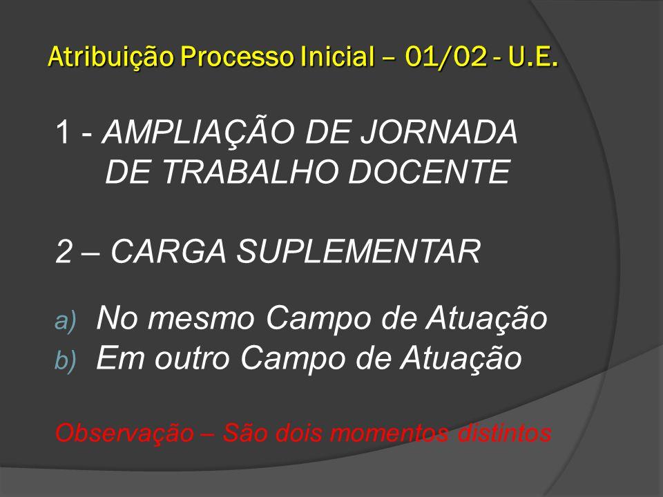 Atribuição Processo Inicial – 01/02 - U.E.