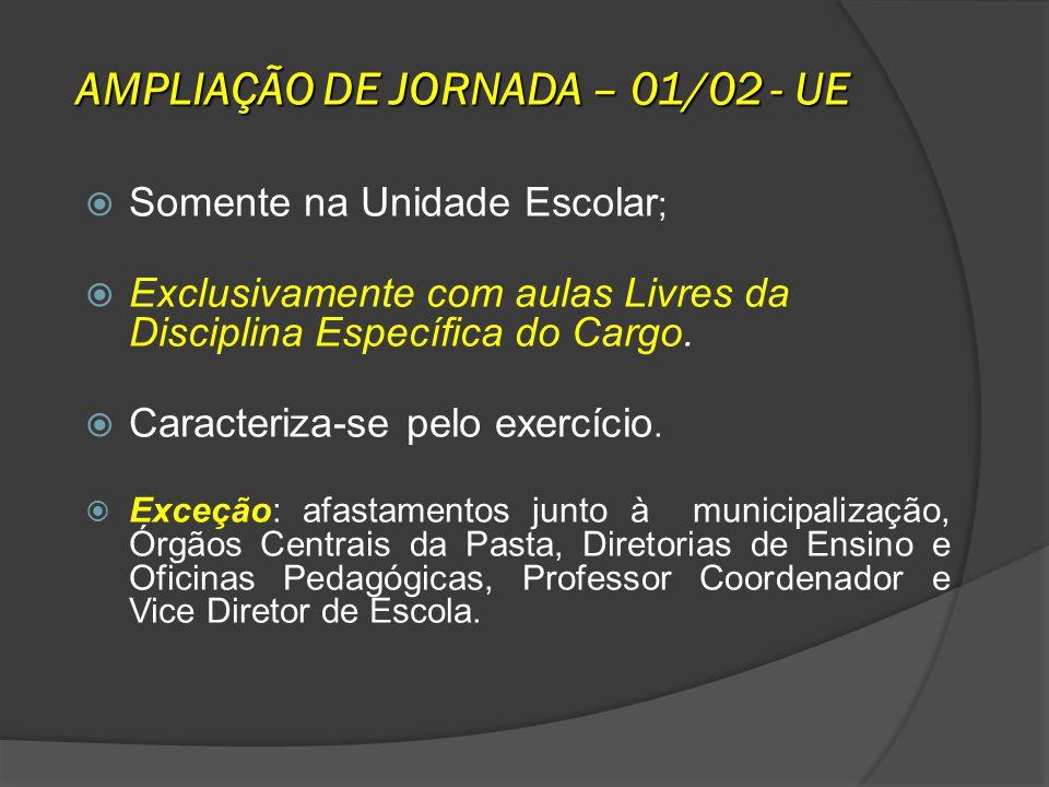 AMPLIAÇÃO DE JORNADA – 01/02 - UE