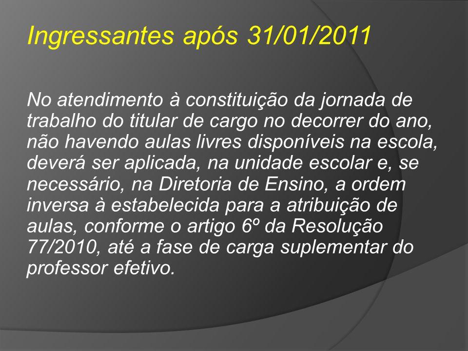 Ingressantes após 31/01/2011
