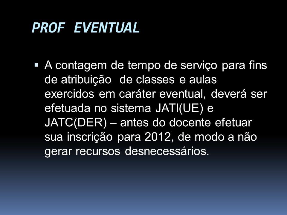 PROF EVENTUAL