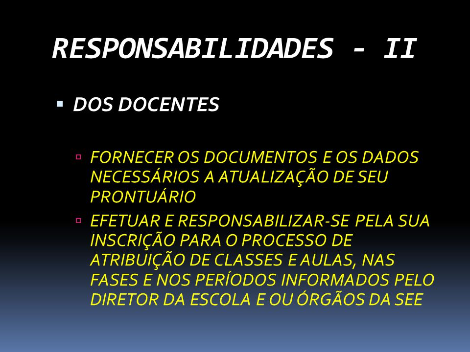 RESPONSABILIDADES - II