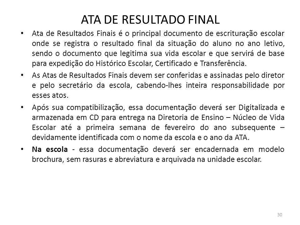 ATA DE RESULTADO FINAL