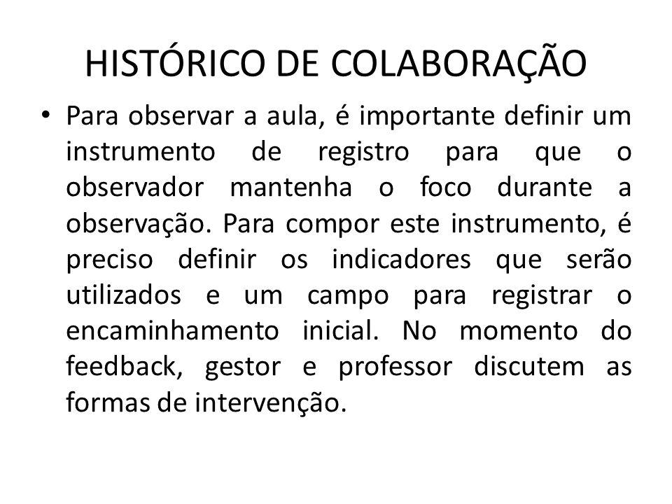 HISTÓRICO DE COLABORAÇÃO