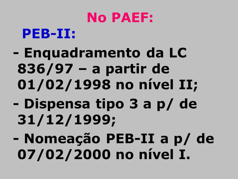 No PAEF: