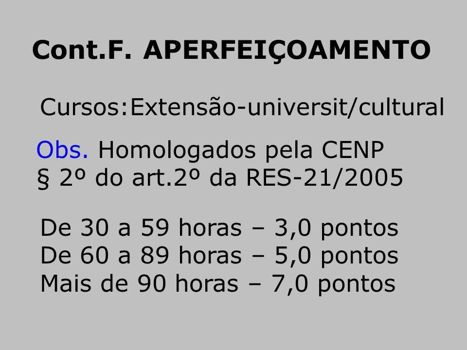 Cont.F. APERFEIÇOAMENTO