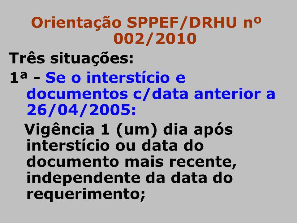 Orientação SPPEF/DRHU nº 002/2010