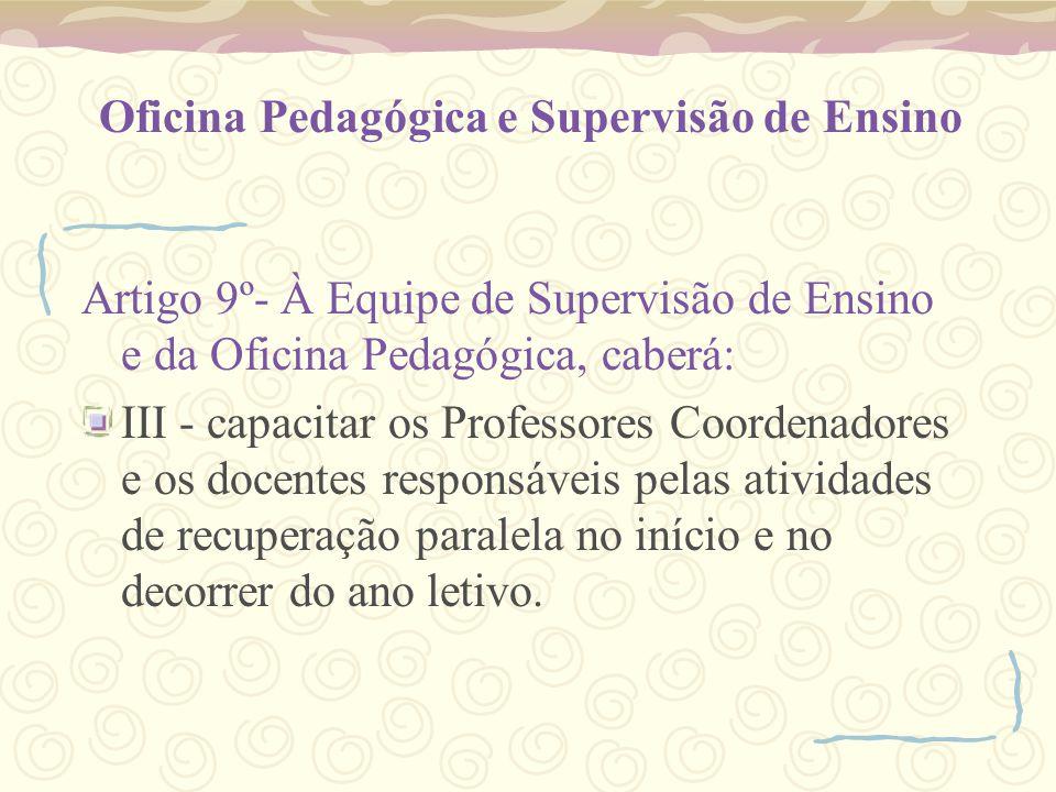 Oficina Pedagógica e Supervisão de Ensino